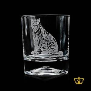 Tiger-engraved-stylish-hand-carved-rare-collection-wildlife-crystal-whiskey-glass-tumbler-10-oz