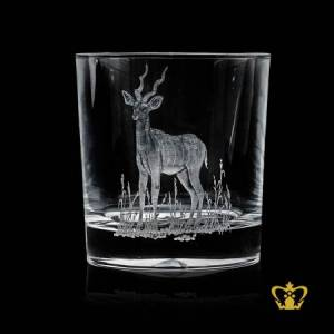 The-blackbuck-Antelope-cervicapra-rare-animal-hand-engraved-collection-beautiful-crystal-whiskey-glass-10-oz