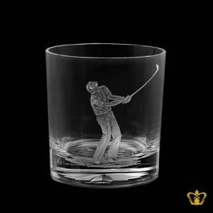Personalized-Crystal-Whisky-Glass-Engraved-with-Golfer-Design-Customized-Text-Engraving-Logo