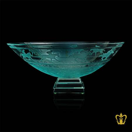 Versatile-green-crystal-bowl-engraved-with-horse-riding