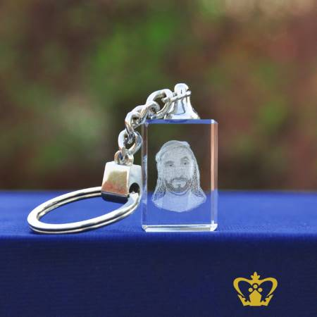 H-H-Sheikh-Zayed-Bin-Sultan-Al-Nahyan-3D-laser-rectangular-cube-crystal-key-chain-UAE-national-day-gift-customized-logo-text