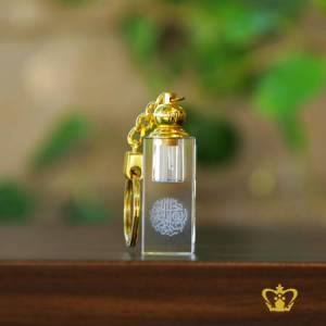 Islamic-Gift-with-Arabic-word-Calligraphy-Laser-engraved-Bismillah-Ir-Rahman-Ir-Rahim-in-Crystal-Cube-key-chain-with-Oud-Perfume-Bottle-Religious-Occasions-Ramadan-Souvenir