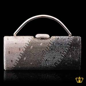 Ladies-purse-embellished-with-clear-black-and-gray-crystal-diamond-gorgeous-gift-for-her