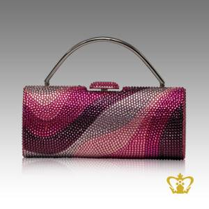 Ladies-purse-wave-shaded-embellish-with-multicolor-crystal-diamond-gorgeous-gift-for-her