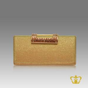 Ladies-purse-golden-color-embellished-with-multicolor-crystal-diamond-around-the-lock