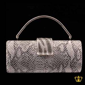 Ladies-purse-white-and-black-mix-embellished-with-clear-crystal-diamond-around-the-lock