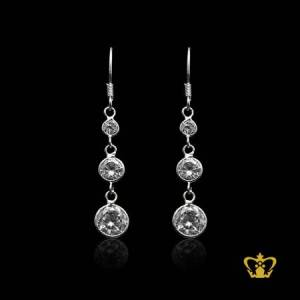 Chic-elegant-silver-drop-earring-inlaid-with-crystal-diamond-lovely-gift-for-her