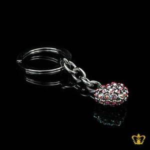 Heart-shaped-Key-ring-Crystal-stones-for-her-for-him-valentines-day-celebration-occasions-Birthday