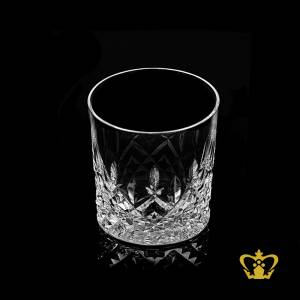 Traditional-handcrafted-designs-on-whisky-glass-diamond-cuts-on-bottom-brings-out-a-royal-look-crystal-spirit-tumbler-10-oz