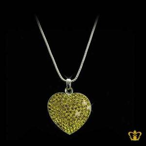 Green-heart-pendant-for-her-occasions-celebrations-birthday-valentines-day