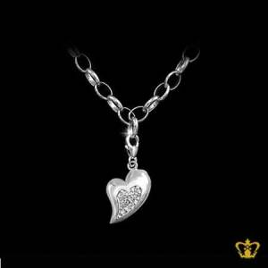 Heart-shape-Charm-loops-silver-bracelet-elegant-simple-for-her-gift-occasions-celebrations-birthday-valentines-day-anniversary