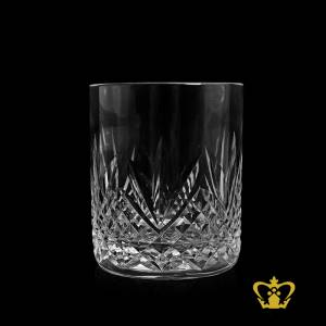 Classy-traditional-look-with-diamond-and-wedge-hand-cut-whiskey-Glass-11-oz