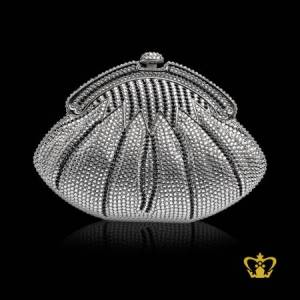 Shinny-luxurious-ladies-purse-embellished-with-black-and-clear-crystal-diamond-an-opulent-gift-for-her
