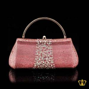 Ladies-purse-embellished-with-clear-and-pink-crystal-diamond-gorgeous-gift-for-her