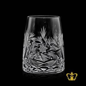 Exclusive-whiskey-glass-designed-to-bring-out-the-best-aroma-temperature-finished-with-unique-crystal-cuts-around-body-and-bottom-10-oz