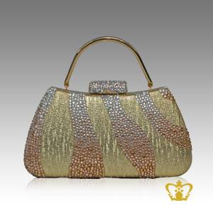 Ladies-purse-golden-color-embellished-with-wave-shaded-gold-crystal-diamond-gorgeous-gift-for-her