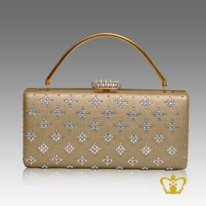 Ladies-purse-golden-color-embellished-with-clear-crystal-diamond-gorgeous-gift-for-her