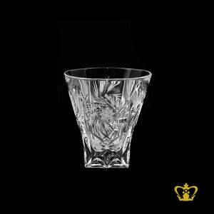 Stylish-twirling-star-handcrafted-cuts-elegant-vintage-look-on-the-rocks-perfectly-square-bottom-crystal-whisky-glass-6-oz