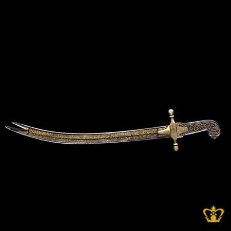 Zulfiqar-sword-crystal-replica-gold-engraved-Ayat-Al-Kursi-The-Throne-Verse-surah-of-the-Quran-Al-Baqara