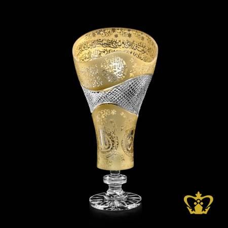 Artistic-Decorative-Crystal-Vase-Engraved-with-Golfer-and-Intricate-Detailing