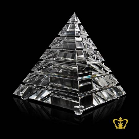 Pyramid-Trophy-Crystal-Customized-Logo-Text-11-50-Inch-x-10-Inch-