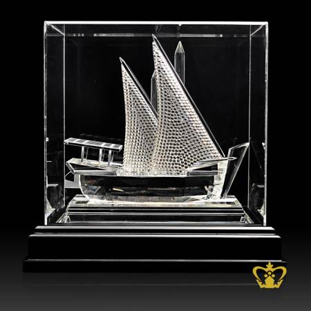 Traditional-Crystal-Dhow-Replica-UAE-National-Day-Gift-Corporate-Gift-Tourist-Souvenir-5-X-5-Inch-Customized-Logo-Text