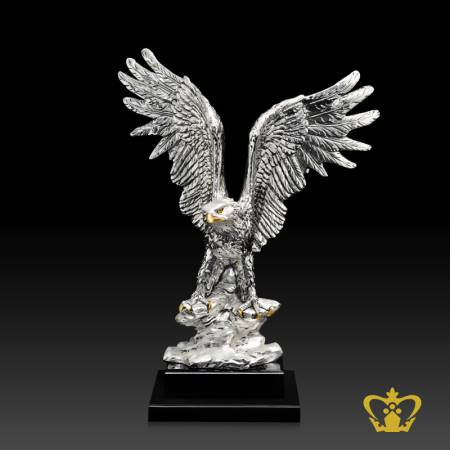 ATB-RISED-EAGLE-SILVER-W-BASE-16-5X13INC