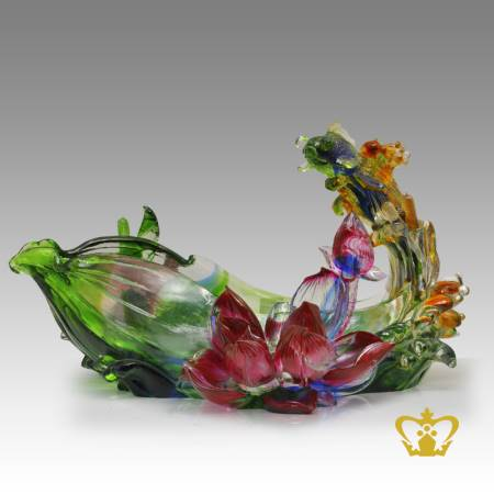 A-masterpiece-crystal-fish-bowl-with-lotus-decorative-gift