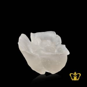 Crystal-replica-of-frosted-rose-decorative-gift