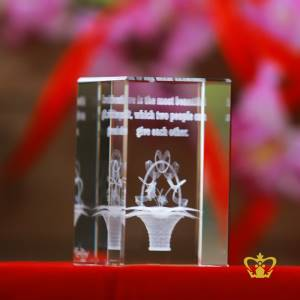 Crystal-Cube-3D-flower-laser-engraved-with-text-Love-is-the-most-beautiful-gift-which-two-people-can-give-each-other-valentines-day-gift-2d-3d-customized-personalized-text-word-etched-printed-gift-special-occasion-for-her-for-him-valentines-day-wedding