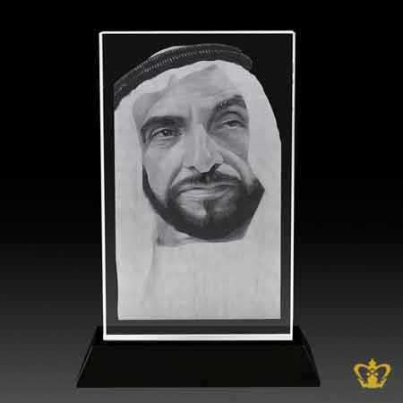 H-H-Sheikh-Zayed-bin-Sultan-Al-Nahyan-portrait-2D-laser-engraved-Plaque-with-Black-base-UAE-National-Day-gift-corporate-souvenir