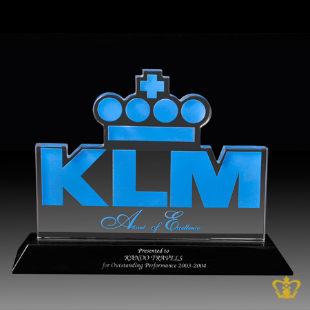 CG-CUTOUT-KLM-TROPHY-8X7IN-W-BLK-BASE