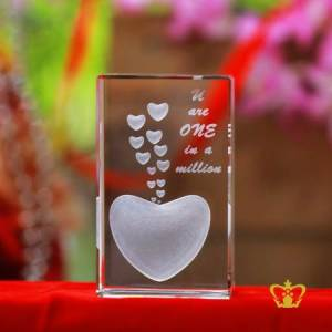 Heart-Shape-3D-Engraved-Text-You-Are-One-In-A-Million-Valentines-Day-Gift-2d-3d-Customized-Personalized-Text-Word-Engrave-Etched-Printed-Gift-Special-Occasion-For-Her-For-Him-Valentines-Day-Wedding