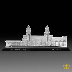 The-Burhani-Masjid-crystal-Cutout-gift-bohra-community