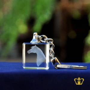 Crystal-Key-Chain-3D-Horse-Laser-Engraving-Cube-Animal-Lover-Gift-Customized-Logo-Text-