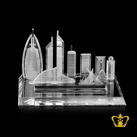 Skyline-of-Dubai-famous-landmark-crystal-replica-gift-tourist-souvenir