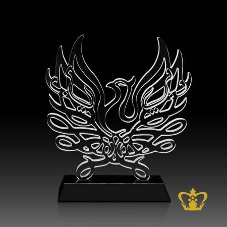 Masterpiece-Artistic-Crystal-Peafowl-with-Intricate-Detailing-stands-on-Black-Crystal-Base