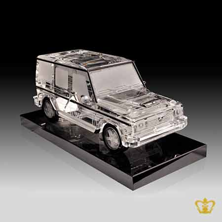 Mercedes-Benz-G55-crystal-replica-with-balck-base-hand-crafted-corporate-gift-tourist-souvenir