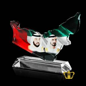 UAE-Map-crystal-cutout-trophy-with-UAE-Flag-and-Sheikh-Mohammed-bin-Rashid-Al-Maktoum-and-Sheikh-Khalifa-bin-Zayed-bin-Sultan-Al-Nahyan-UAE-National-Day-Gift