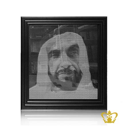 Personalized-crystal-photo-Frame-with-laser-engrave-H-H-Sheikh-Zayed-bin-Sultan-Al-Nahyan