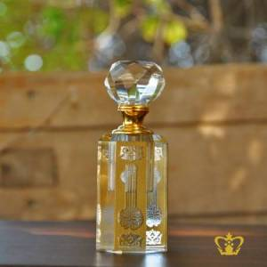 Bismillah-Ir-Rahman-Ir-Rahim-Arabic-Word-Calligraphy-Engraved-Crystal-Perfume-Bottle-with-Golden-Color-Islamic-Occasions-Eid-Religious-Gift-Ramadan-Souvenir