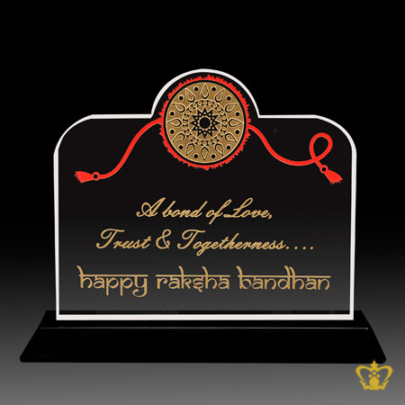 Happy-Raksha-Bandhan-gift-rakhi-engraved-crystal-plaque-special-souvenir-for-brother-Indian-Hindu-Festival