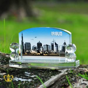 Personalized-Crystal-Desktop-Business-Card-Holder