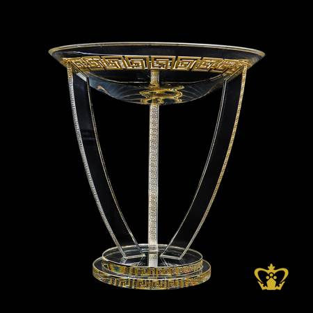 Personalized-crystal-cup-trophy-with-2tier-clear-round-base-sports-event-awards