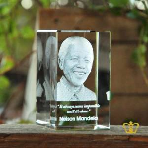 3D-laser-engraved-crystal-rectangular-cube-Nelson-Mandela-with-his-most-popular-quotes-etched