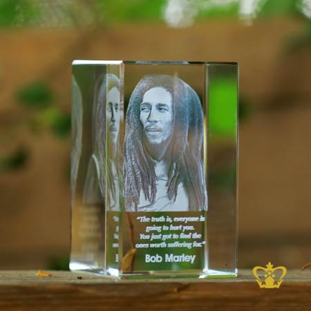 Bob-Marley-3D-laser-engraved-crystal-rectangular-cube-with-his-most-popular-quotes-etched