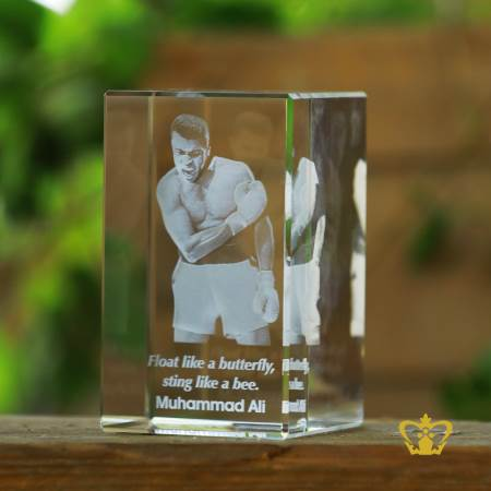 Crystal-rectangular-cube-3D-laser-engraved-Muhammad-Ali-with-his-most-popular-quotes-etched