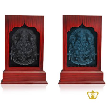 Religious-Spiritual-Holy-Gift-Ganesh-3D-Frame-Indian-Festival-Diwali-Celebration-Hindu-God