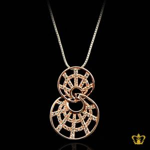 Exquisite-twist-sparkling-golden-pendant-inlaid-with-clear-crystal-diamonds-elegant-gift-for-her