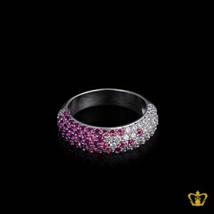 Delicate-chic-ring-inlaid-with-beautiful-pink-and-clear-crystal-diamonds-lovely-gift-for-her